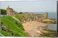 Coastline Beach and Ruins of St Andrews, Scotland Fine-Art Print