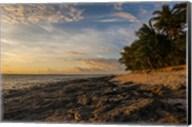 Late afternoon light on a beach on Beachcomber island, Mamanucas Islands, Fiji, South Pacific Fine-Art Print