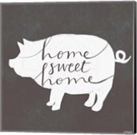 Home Sweet Home Pig Fine-Art Print