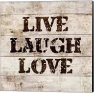 Live Laugh Love In Wood Fine-Art Print