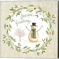 Season's Greetings - Snowman Fine-Art Print