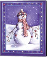 Holiday Snowman with Hat Fine-Art Print