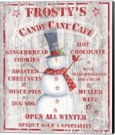 Frosty's Candy Cane Cafe Fine-Art Print