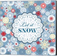 Let It Snow - Pattern Fine-Art Print