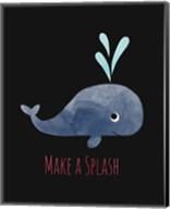 Make a Splash Whale Black Fine-Art Print