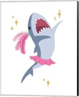 Wash Brush Floss Flush Shark Pink Part I Fine-Art Print