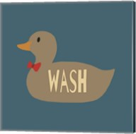 Duck Family Boy Wash Fine-Art Print