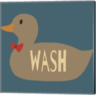 Duck Family Boy Wash Fine-Art Print