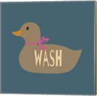 Duck Family Girl Wash Fine-Art Print