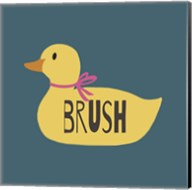 Duck Family Girl Brush Fine-Art Print