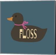 Duck Family Girl Floss Fine-Art Print