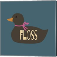 Duck Family Girl Floss Fine-Art Print