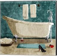 Teal Drink And Heals Bath Fine-Art Print