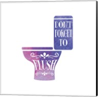 Don't Forget to Flush Watercolor Silhouette Fine-Art Print