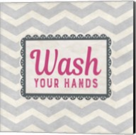 Wash Your Hands Gray Pattern Fine-Art Print
