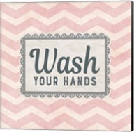 Wash Your Hands Pink Pattern Fine-Art Print