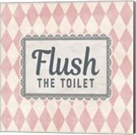 Flush The Toilet Pink Pattern Fine-Art Print