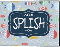 Splish and Splash Fish Pattern Blue Part I Fine-Art Print
