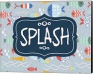 Splish and Splash Fish Pattern Blue Part II Fine-Art Print