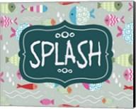 Splish and Splash Fish Pattern Green Part II Fine-Art Print
