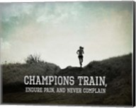 Champions Train Woman Black and White Fine-Art Print