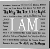 Names of Jesus Square Black and White Text Fine-Art Print