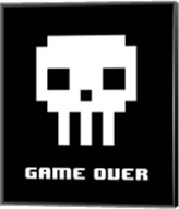 Game Over  - White Skull Fine-Art Print