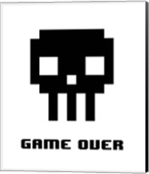 Game Over  - Black Skull Fine-Art Print