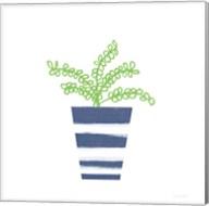 Striped Pot I Fine-Art Print