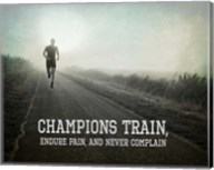 Champions Train Man Black and White Fine-Art Print
