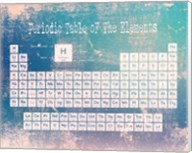 Periodic Table Blue Grunge Background Fine-Art Print
