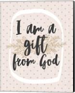 I am a Gift from God Dot Pattern Fine-Art Print