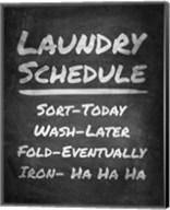 Laundry Schedule Chalkboard Fine-Art Print