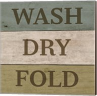 Wash Dry Fold Painted Wood Fine-Art Print