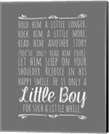 Hold Him A Little Longer - Gray Fine-Art Print