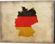 Map with Flag Overlay Germany Fine-Art Print