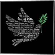 Names of Jesus Dove Silhouette Black Fine-Art Print