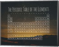The Periodic Table Of The Elements Night Sky Green Fine-Art Print
