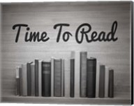 Time To Read - Wood Background Black and White Fine-Art Print