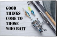 Good Things Come To Those Who Bait - White Fine-Art Print