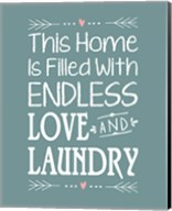 Endless Love and Laundry - Blue Fine-Art Print