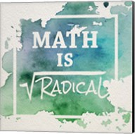 Math Is Radical Watercolor Splash Green Fine-Art Print