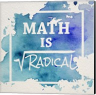 Math Is Radical Watercolor Splash Blue Fine-Art Print