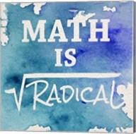 Math Is Radical Watercolor Splash Blue Fine-Art Print
