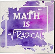 Math Is Radical Watercolor Splash Purple Fine-Art Print
