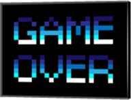 Game Over  - Blue Fine-Art Print