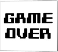 Game Over  - White Fine-Art Print