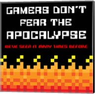 Gamers Don't Fear The Apocalypse  - Red Fine-Art Print