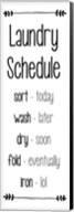 Laundry Schedule  - White Fine-Art Print