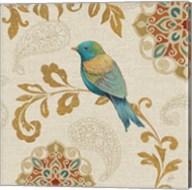 Bird Rainbow Blue and Yellow Fine-Art Print